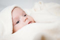 Baby in blanket cute little hidden Royalty Free Stock Image