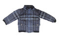 Baby blue checkered jacket Royalty Free Stock Photo
