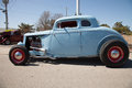 Baby blue hot rod in Oklahoma Royalty Free Stock Photo