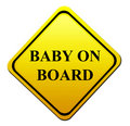 Baby on board Royalty Free Stock Photography
