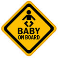 Baby on board Stock Photography