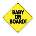 Baby on board Stock Image