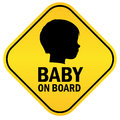 Baby on board Stock Images