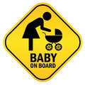 Baby on board Royalty Free Stock Photos