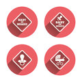 Baby on board icons. Infant caution signs