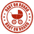 Baby on board stamp Royalty Free Stock Photo