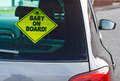 Baby on board warning sign Royalty Free Stock Photos
