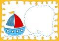 Baby Boat Shower invitation Card