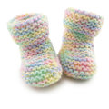 Baby Booties in Multi Coloured Yard Royalty Free Stock Images