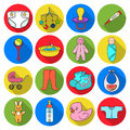 Baby born set icons in flat style. Big collection of baby born vector symbol stock illustration
