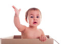 Baby and the box Royalty Free Stock Photo