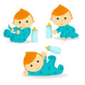 Baby boy action Royalty Free Stock Image