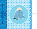 Baby boy announcement card Stock Image