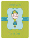 Baby Boy Arrival Card Royalty Free Stock Photography