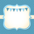 Baby boy arrival card Royalty Free Stock Photos
