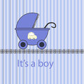 Baby boy arrival card in Stock Photo