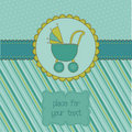 Baby Boy Arrival Card with Photo Frame Stock Photos