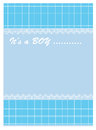 Baby boy arrives illustration of arrival card Royalty Free Stock Images