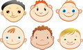 Baby boy avatar in different variations isolated against white background Royalty Free Stock Photos