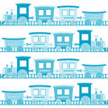 Baby boy background with blue cartoon toy train Royalty Free Stock Photo