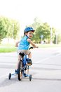Baby boy on bike Royalty Free Stock Photo
