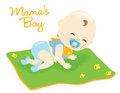 Baby boy on blanket Royalty Free Stock Photography