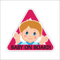 Baby Boy On Board. Vector Illustration. Baby On Board. Baby On Board Sign. Royalty Free Stock Photo