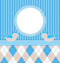 Baby boy card with birds Royalty Free Stock Photo