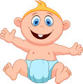Baby boy cartoon illustration of Royalty Free Stock Photography