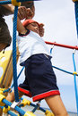 Baby-boy climbing Royalty Free Stock Photo