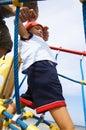 Baby-boy climbing Royalty Free Stock Photo