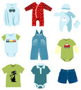 Baby boy clothes Stock Photos