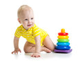 Baby boy crawling Royalty Free Stock Photo