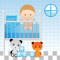 Baby Boy in Crib Royalty Free Stock Photography