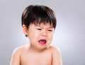 Baby boy crying Royalty Free Stock Photo