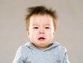 Baby boy crying Royalty Free Stock Photo