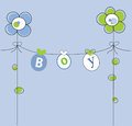 Baby boy cute clothes line Royalty Free Stock Photos