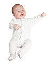 Baby boy dressed in white Royalty Free Stock Image