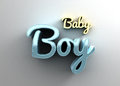 Baby boy - gold and blue 3D quality render on the background wit Royalty Free Stock Photo