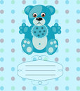 Baby boy greeting card vector background eps see my other works in portfolio Stock Photos