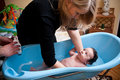 Baby boy having bath Royalty Free Stock Photo