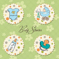 Baby boy items set Stock Photography