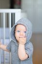 Baby boy with learning to walk Royalty Free Stock Photo