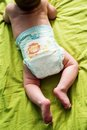 Baby boy lying on his tummy Royalty Free Stock Photo