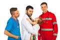 Baby boy meeting doctors Royalty Free Stock Photo