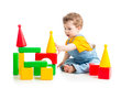 Baby boy playing building blocks Stock Photography