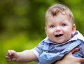 Baby boy portrait outdoor Royalty Free Stock Images
