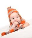 Baby boy posing Royalty Free Stock Photo