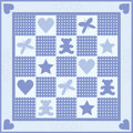 Baby Boy Quilt Stock Photography
