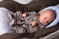 Baby Boy in Safety Seat Royalty Free Stock Image